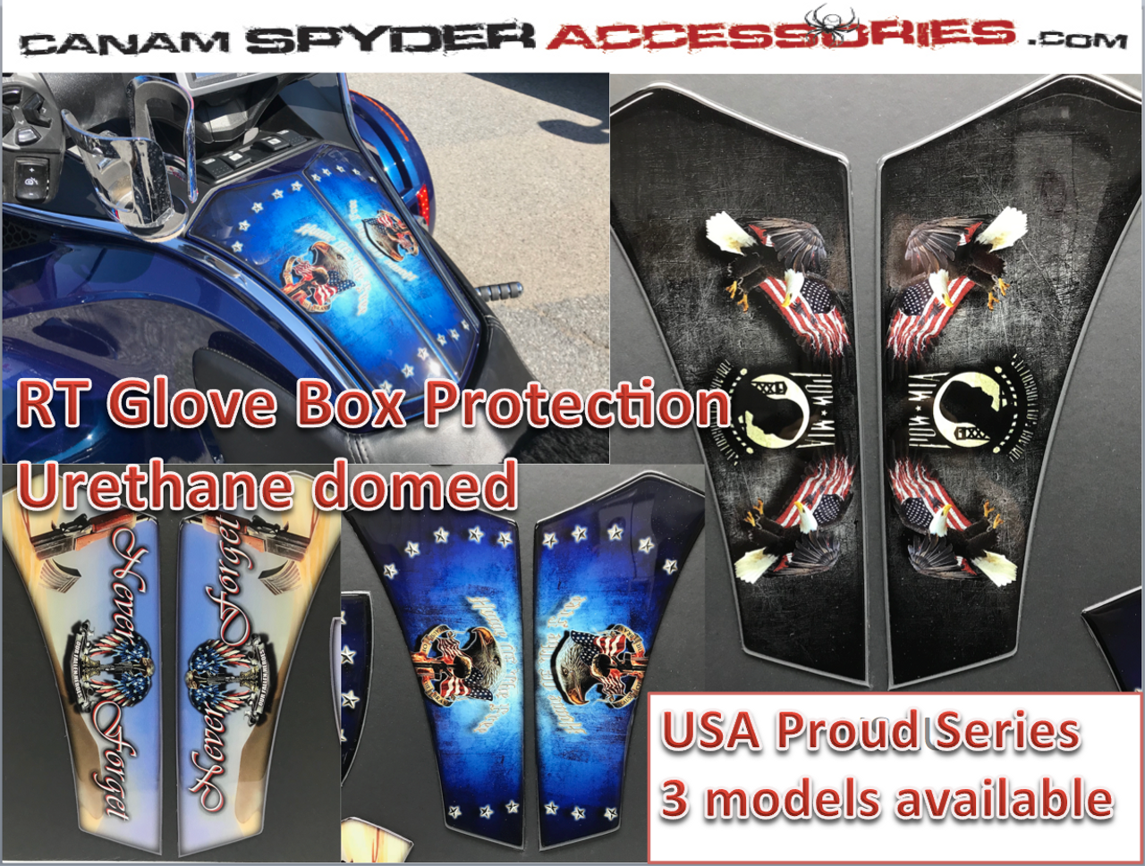 RT Glove Box Protector - Urethane - USA Proud series - 3 models  (All years)