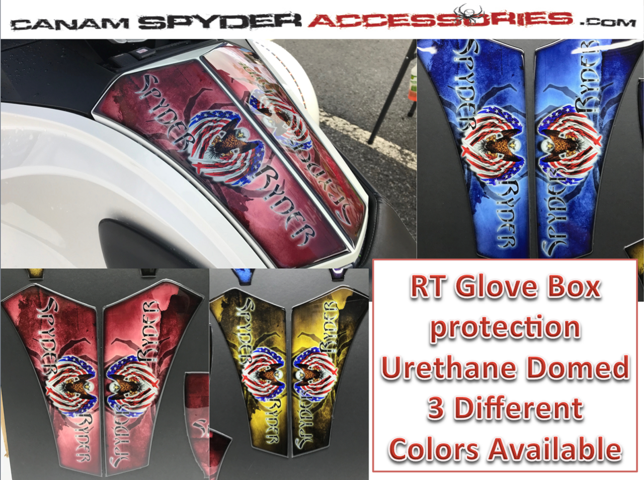 RT Glove Box Protector - Urethane - Spyder Ryder series - 3 colors  2010-2019