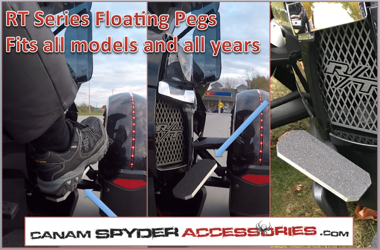 RT Series - The Floating Pegs - All years and models. Black with Polished Edge