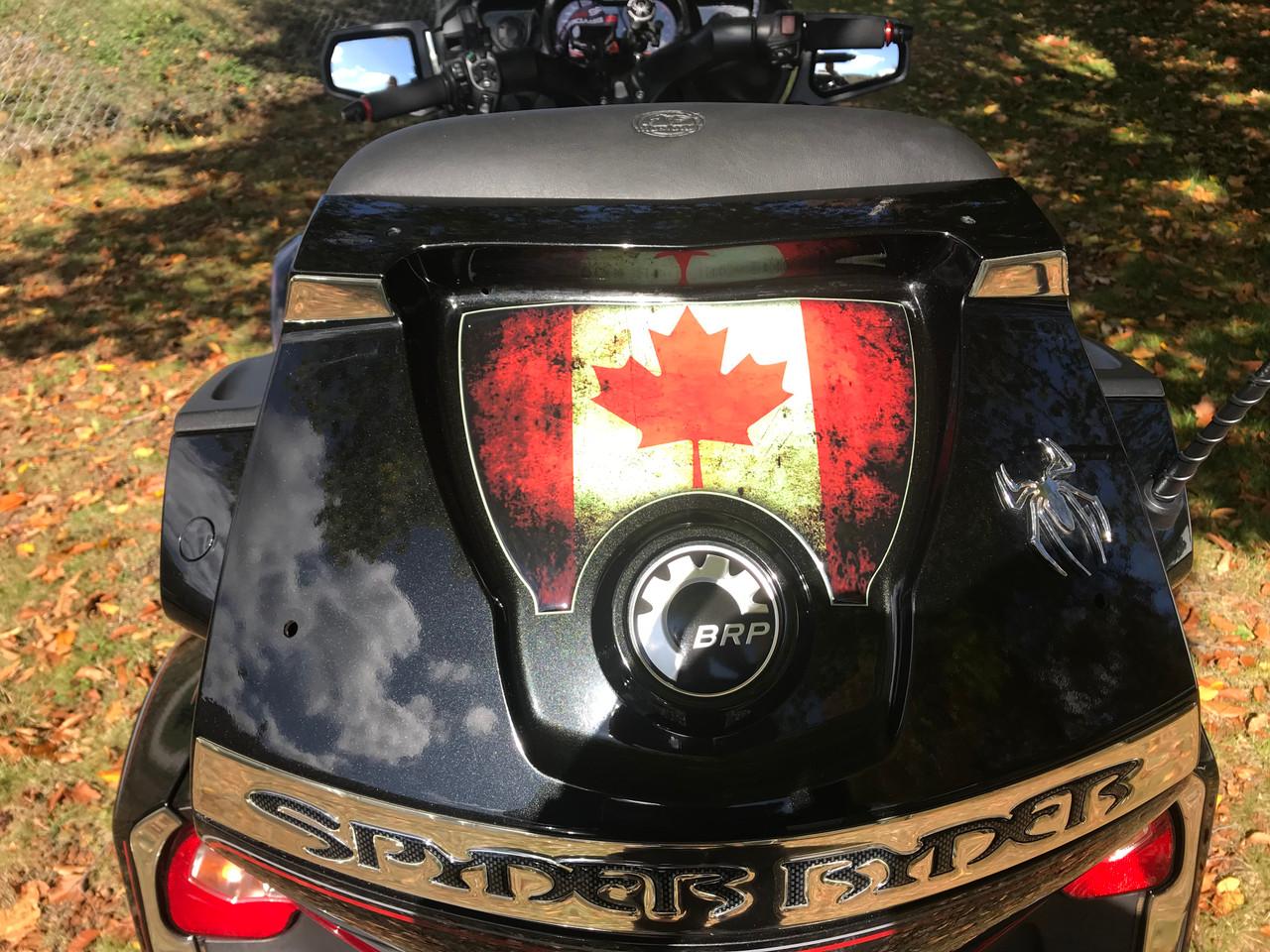 Canadian Flag - RT Series Rear Trunk Polyurethane Decal (2010-2019)