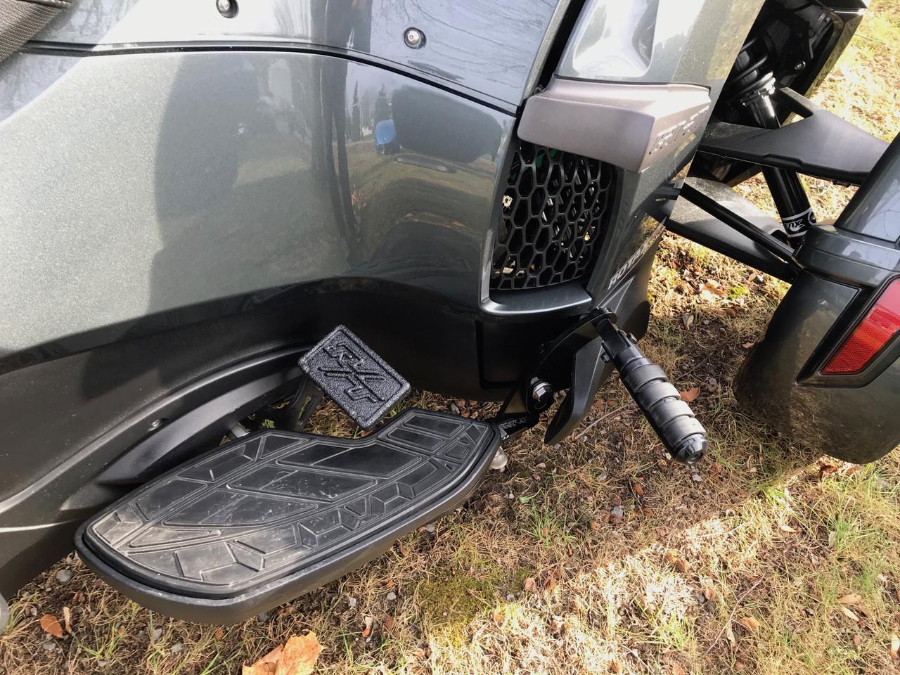 Spyder Brake Pedal - RT Logo - Billet aluminium with LineX - Fits RT series 2010-2019