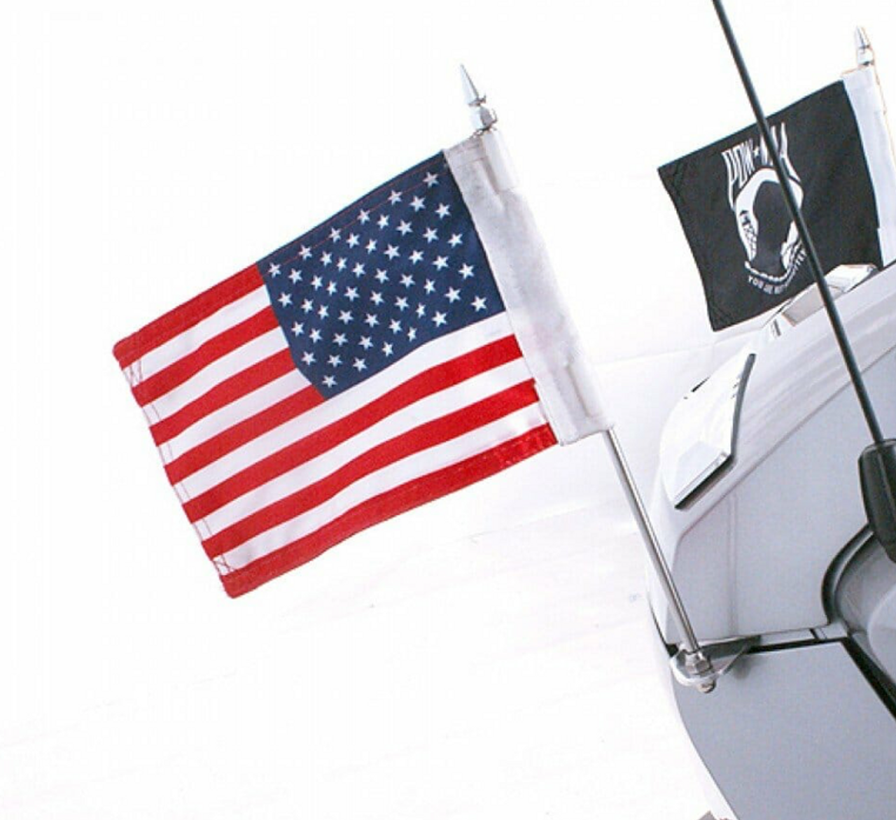 RT Series Rear Trunk Mounted Flag Holders (Pair) fits 2010-2019