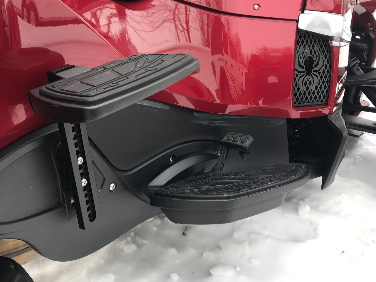 RT and ST Passenger Floorboard Risers Black - for RT 2010-2019 and ST 2013-2016