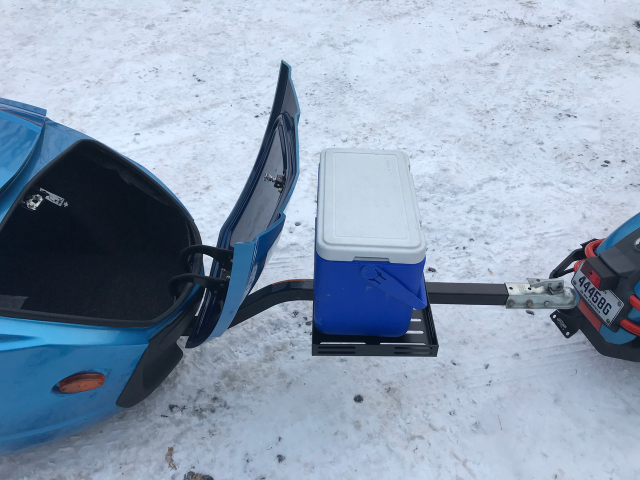 """Combo Universal trailer pole extension and cooler rack - fits all 2"""" square poles"""