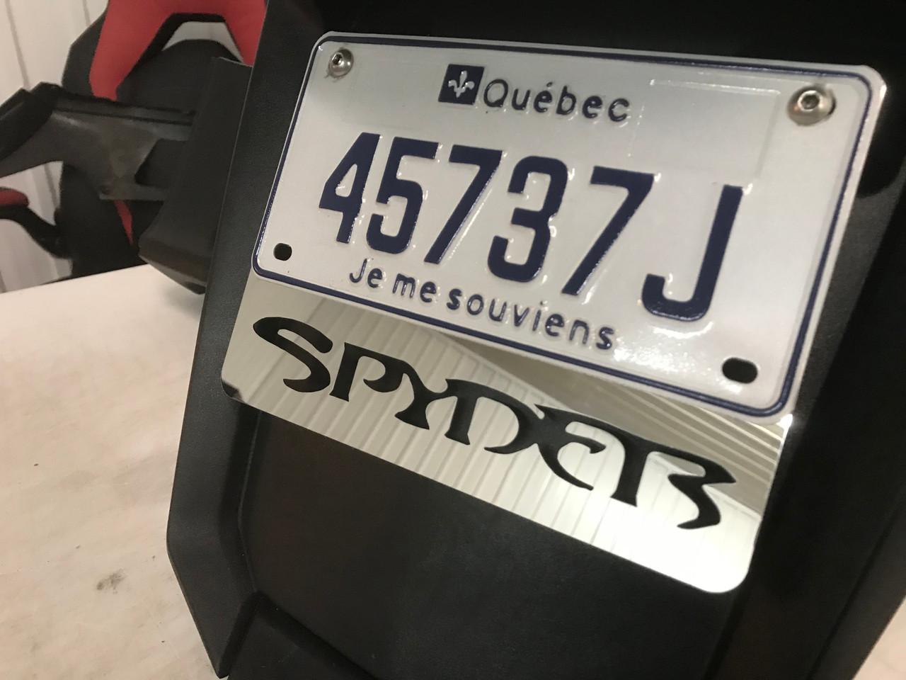 License Plate Frame  Spyder - Chrome - 8 x 5.75 inches