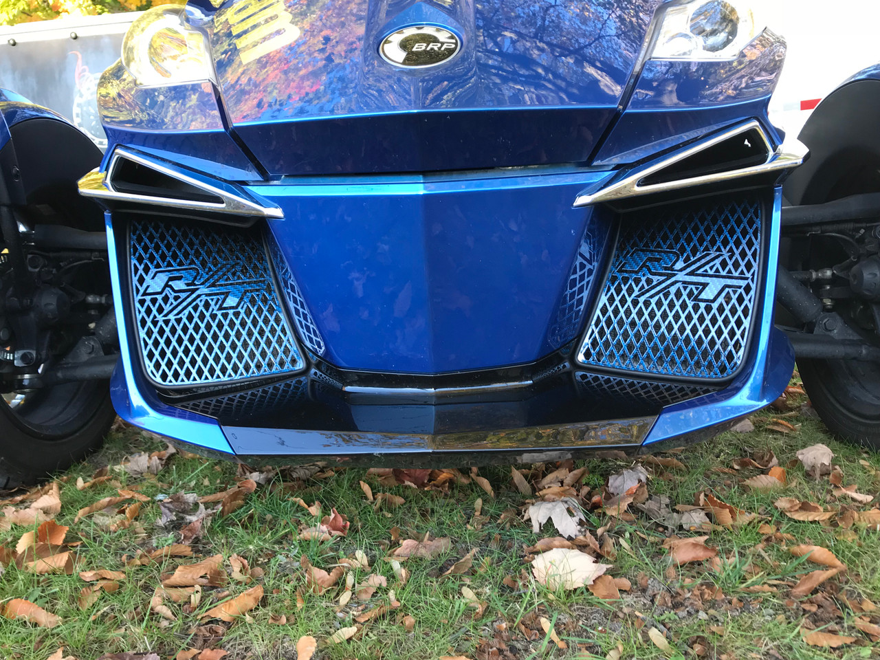 RT Front Grills 2014-2019 - 2 RT Logos - Carbon Fibre Oxford blue