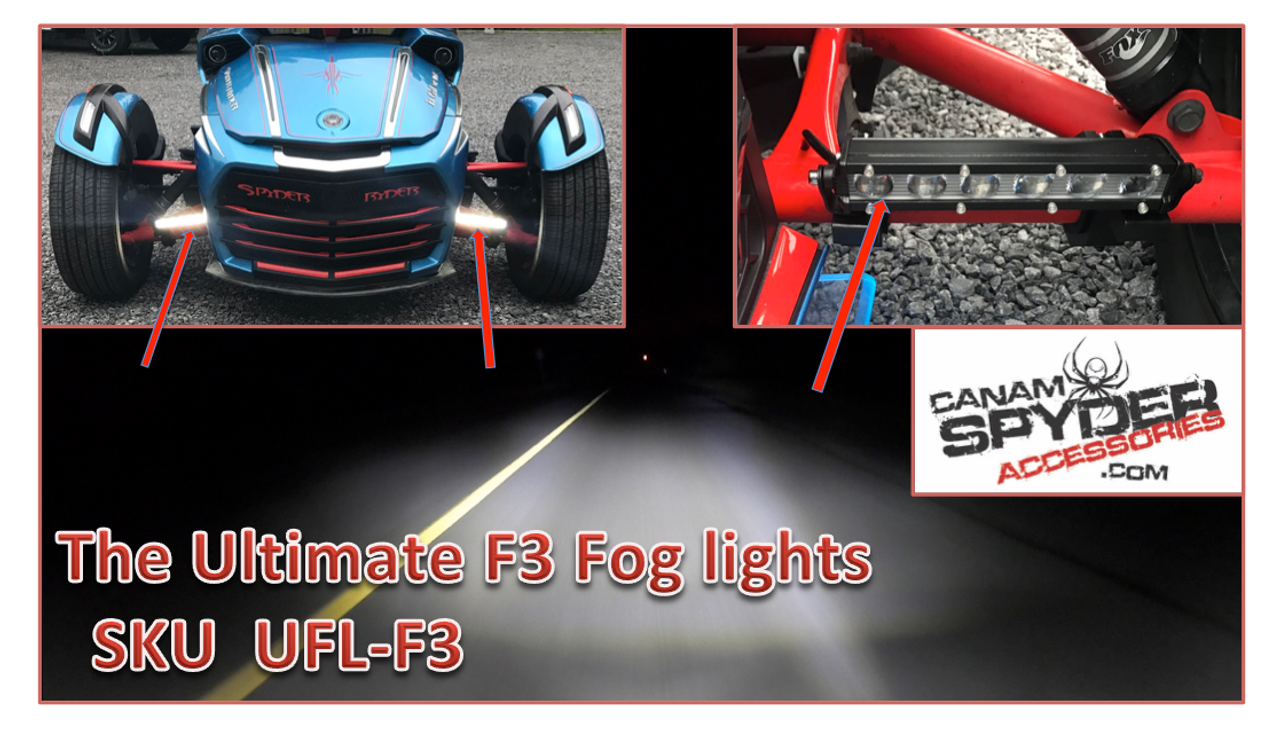 The Ultimate F3 fog lights - Fits all F3 years and models