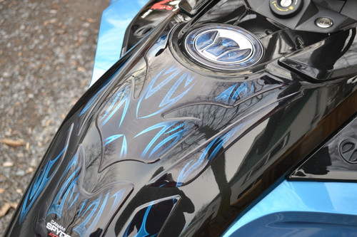 F3 Gas Cap  - # 102 Blue - Made from high quality Crystal epoxy gel.