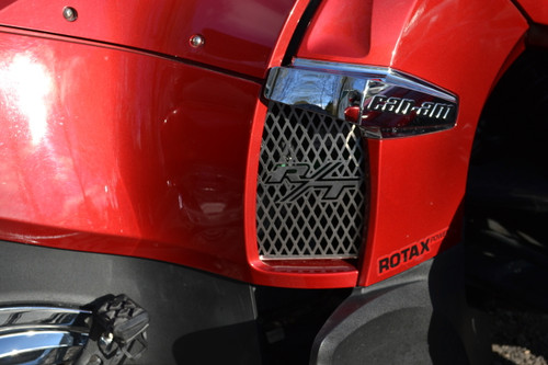 RT Lower Side Grills - 2010-19 - 2 RT Logos - Stainless Steel