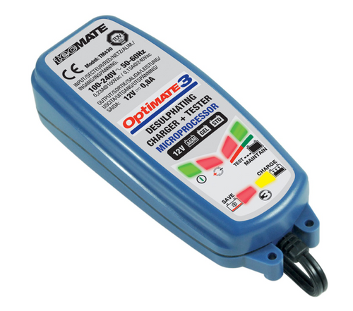 Optimate 3 (0.8 Amps) -  Battery Charger  for Spyders