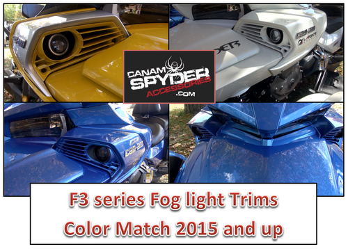 F3 Series color match Fog Light trims (3 piece set)Pre-order until October 28th.