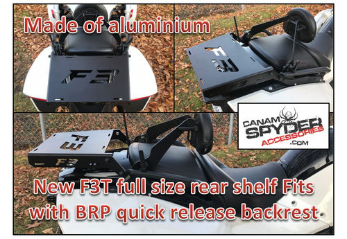 F3T Spyder Full Rear Shelf - For F3T and LTD without top case