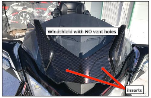 RT Series Black Carbon Polyurethane Windshield Blackout - fits BRP stock windshield