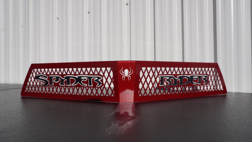 F3 upper front grill intense red with  carbon black Spyder Ryder logo letters