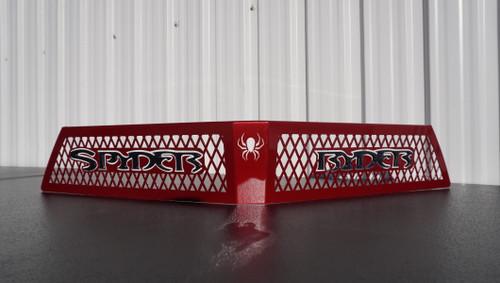 F3 upper front grill intense red with  carbon black Spyder Ryder logo letters