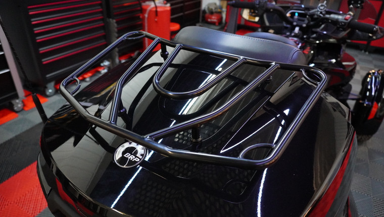 F3T/LTD and RT/RTS 2020 and up Black Luggage Rack (fits the BRP Top Case)