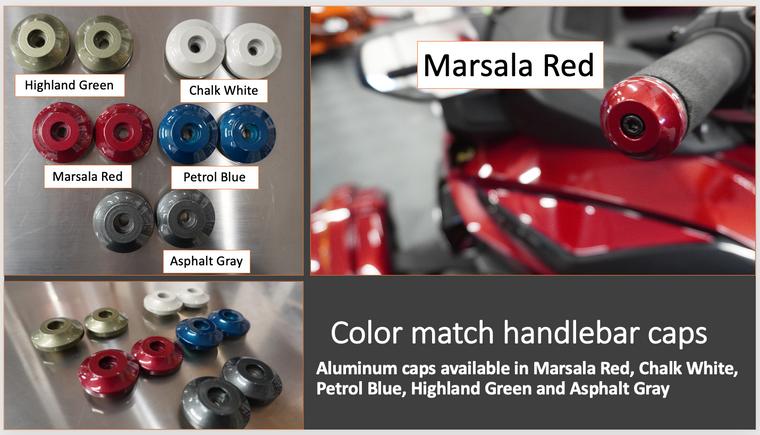 Handlebar Caps - Aluminium - 5 colors available (Set of 2)