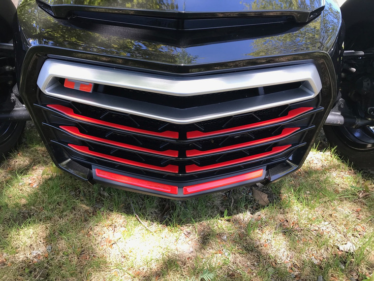 F3 VIPER RED Front Grill Inserts - Urethane - (18 PCS)