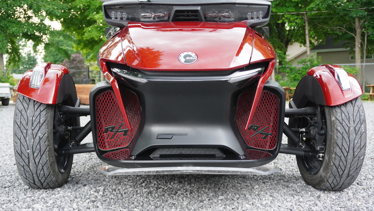 RT Front Grills - 2020 and up - 2 RT Logos  - Marsala Red with Black RT letters