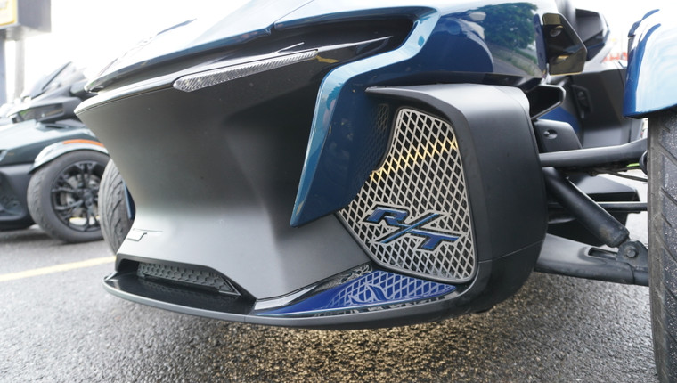 RT Front Grills - 2020 and up - 2 RT Logos - Stainless Steel with Petrol Blue Letters