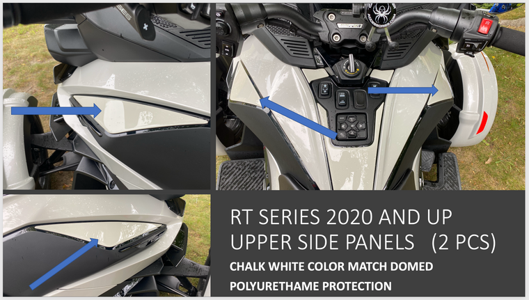RT 2020 and up - Chalk White upper side panels protection (2 pcs)