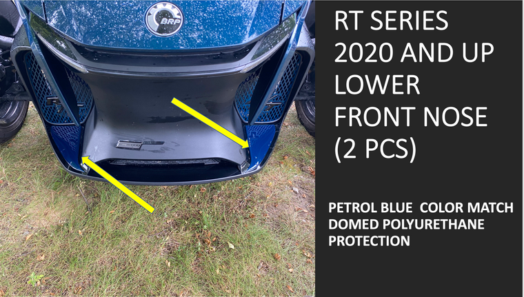 RT 2020 and up - Petrol Blue  lower front nose protection (2pcs)
