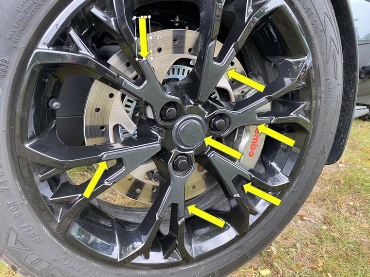 RT 2020 and up - Asphalt Gray Color match wheel trims  (14 pcs)