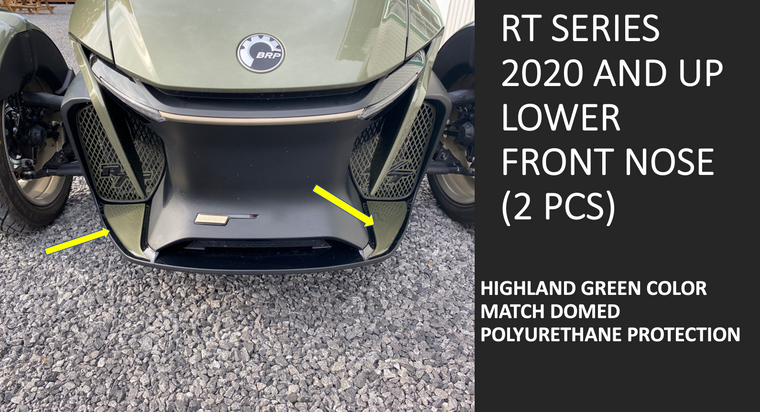 RT 2020 and up - Highland Green  lower front nose protection (2 pcs)
