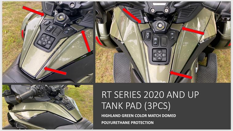 RT 2020 and up - Highland Green  Tank pad protection (3 pcs)