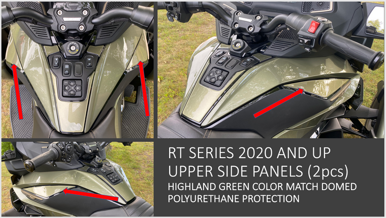 RT 2020 and up - Highland Green  upper side panels protection (2 pcs)
