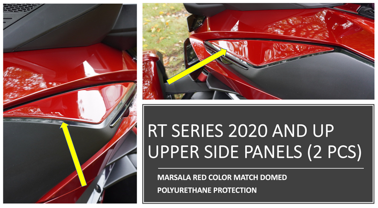 RT 2020 and up - Marsala Red  upper side panels protection (2 pcs)