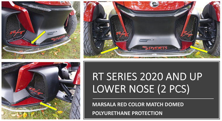 RT 2020 and up - Marsala Red lower front nose protection (2 pcs)