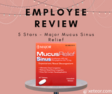EMPLOYEE REVIEW - 5 Stars for the Major Mucus Sinus Relief Tablets