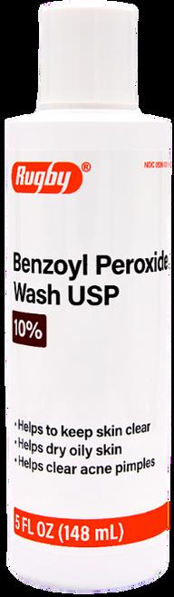 Rugby Benzoyl Peroxide Wash 10% - 5 fl oz