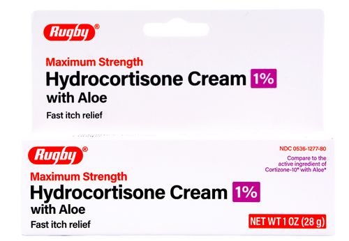 Rugby Maximum Strength Hydrocortisone Cream with Aloe - 1% (Cortizone-10 with Aloe)