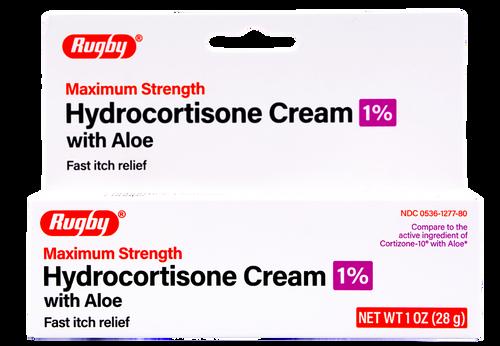 Rugby Maximum Strength Hydrocortisone Cream with Aloe - 1% (Cortizone-10 with Aloe)