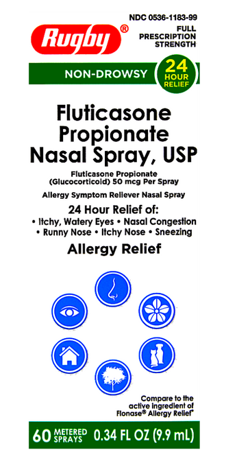 Rugby Fluticasone Nasal Spray - 60 metered sprays (Flonase)