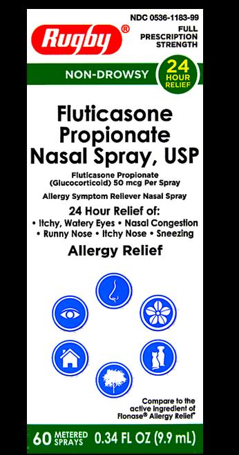 Rugby Fluticasone Nasal Spray - 60 metered sprays (Flonase)