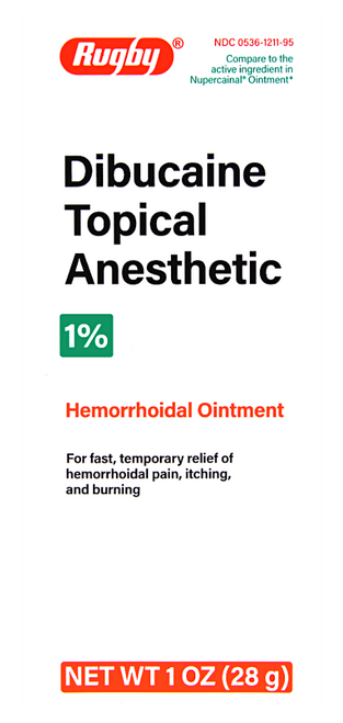 Rugby Dibucaine Topical Anesthetic 1% Hemorrhoidal Ointment - 1% (Nupercainal Ointment)