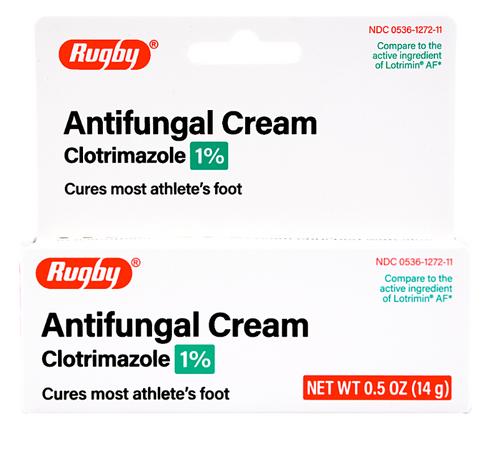 Rugby Antifungal Cream Clotrimazole 1% - 0.5 oz (Lotrimin AF)