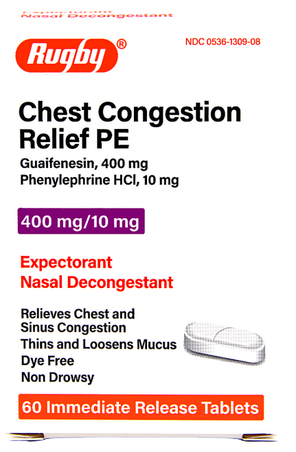Rugby Chest Congestion Relief PE - 60 Tablets (Mucinex Sinus)