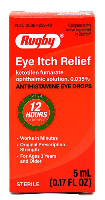 Rugby Antihistamine Eye Itch Relief - 0.17 fl oz (Zatidor)