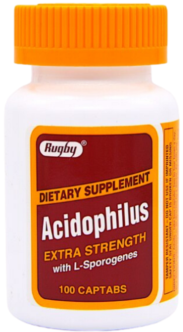 Rugby Acidophilus Extra Strength Dietary Supplement
