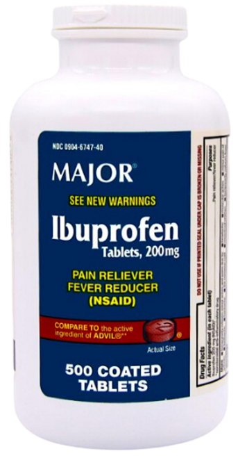Major Ibuprofen Pain Reliever 500 Tablets