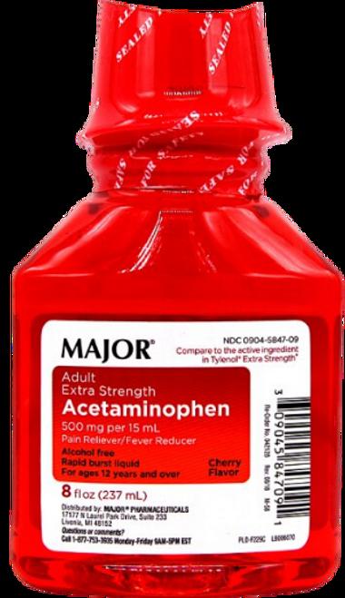 Major Adult Extra Strength Acetaminophen (Tylenol)- Cherry Flavor