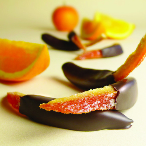 Chocolate Dipped Citrus Peel