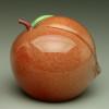 """glass fruit sculpture, glass Peach paperweight, 3"""""""
