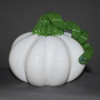 """glass fruit sculpture, glass pumpkin, White """"Gourd"""" Pumpkin 3-4"""""""
