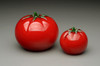 "glass fruit sculpture, glass Tomato, small ""cherry"" tomato 1-2"""
