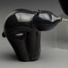 "Glass  Bear | Black Bear Cub animal sculpture, 3"""